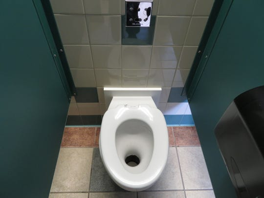 The non-flush toilet at the Whitney Point rest stop uses foam instead of water.