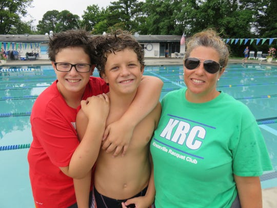 Jackie Bertucci with her sons, Henry, left, and Stephen.