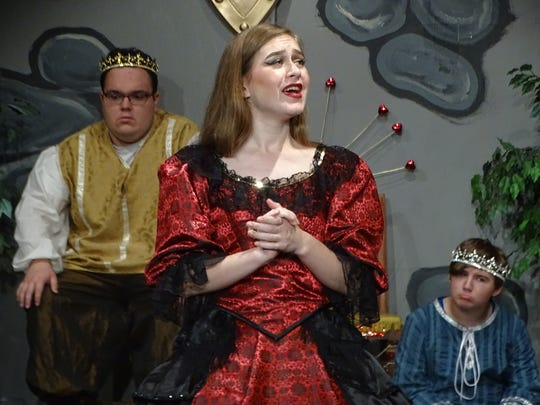 "Rachel Hofacker, shown here in a Fremont Community Teen Theatre production of ""Once Upon a Mattress,"" will perform in Shakespeare's ""The Comedy of Errors"" on Saturday, Aug. 11, and Sunday, Aug. 12, in Birchard Park."