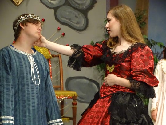 Rachel Hofacker portrays Queen Aggravain and Jacob