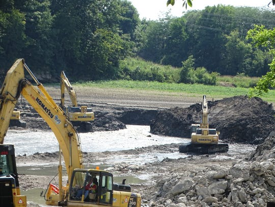 The bulk of the Ballville Dam has been removed as of