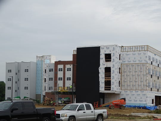 The Landings at Terra Village, shown here under construction