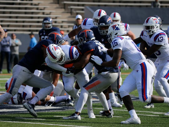 Game action from Saturdays UTEP versus La Tech game