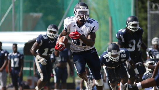 Receiver Daniel Williams (81) and  his Jackson State
