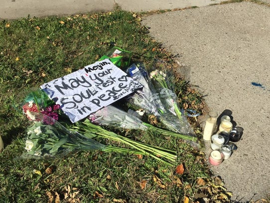 A memorial was set up for Megan Meriwether shortly