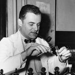 Dr. Frederick C. Robbins, above, and Dr. John Enders and Dr. Thomas Weller were awarded the 954 Nobel Prize in medicine for work with fetal tissue that led to developing a vaccine against polio.