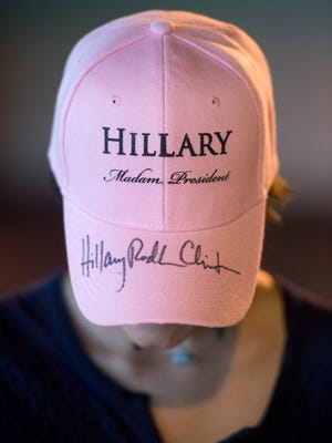 """""""After watching her on stage, I thought, wow, this is a person that really wants to make a difference.  It was a phenomenal experience to see her in action,"""" said Elena Miti, 14, of Port St. Lucie who got her hat signed by democratic presidential nominee Hillary Clinton during a campaign rally Friday, September 30, 2016, at the Sunrise Theatre in downtown Fort Pierce."""