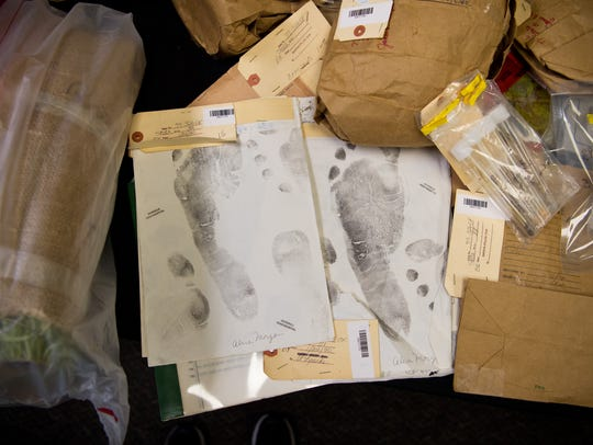 Footprints from James Morgan, who was 16 when he murdered