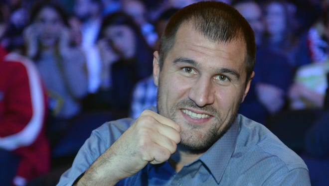 Light heavyweight champion Sergey Kovalev, shown while attending the Mikey Garcia vs. Juan Carlos Burgos WBO Junior Lightweight Title bout last month, will fight Cedric Agnew on March 29 at Atlantic City