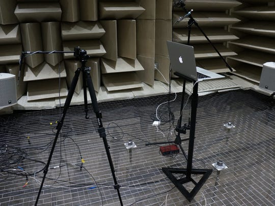 Google's anechoic chamber lab.