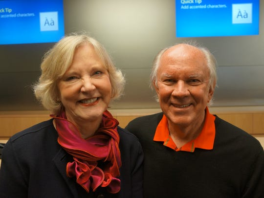 Carol and Jack Weber at the New York City Apple store