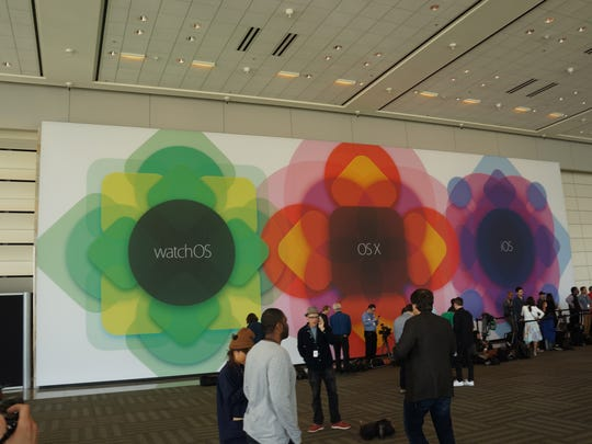 The crowd at Apple developer's conference (WWDC).