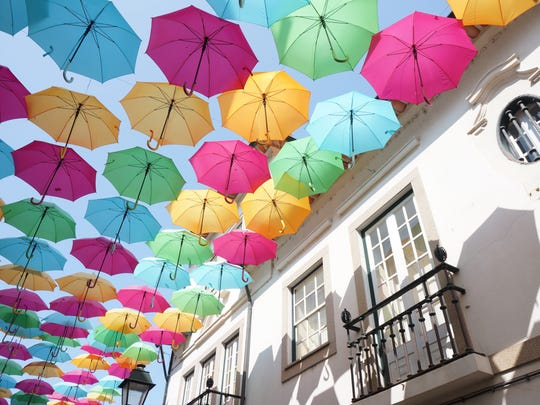 Beginning Friday, Nov. 3, 2017, downtown Pensacola will become the site of the Umbrella Sky Festival. Hundreds of umbrellas will be installed high above historic Intendencia Street between Jefferson and Palafox. The art installation is expected to be in place for three months.