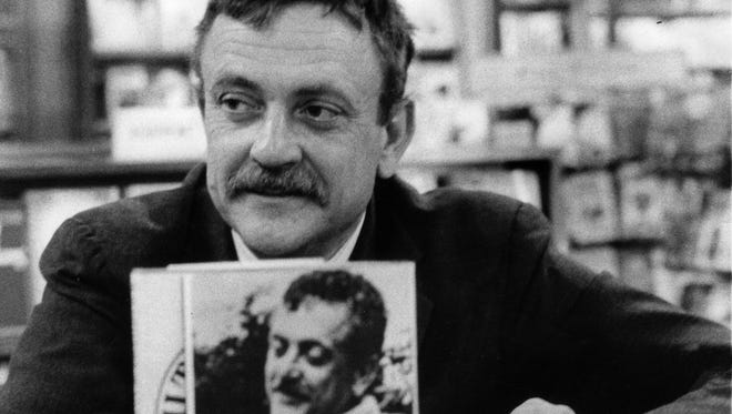 "Author Kurt Vonnegut is pictured at a 1969 book-signing event for ""Slaughterhouse-Five"" at L.S. Ayres in Indianapolis."