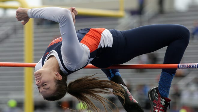 Galion junior Marisa Gwinner cleared 5-5 to win her second regional high jump title.