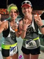 The two Iowa women in the 2018 World Marathon Challenge,