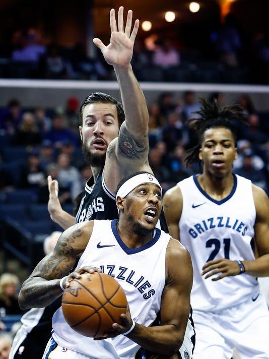 lead Grizzlies Spurs
