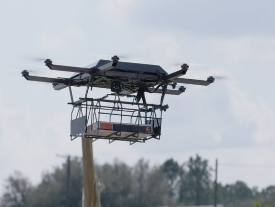 A Work Horse Group drone that docks on top of a UPS
