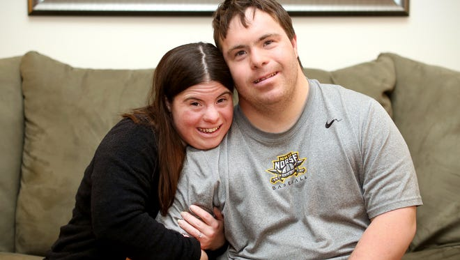 """He's ready for the wedding. He can't wait to get married to me,"" says Jillian Daugherty of her fiance, Ryan, who also has Down syndrome.  ""He loves me every day. He's an amazing guy. I'm glad I picked him. He puts a smile on my face."""