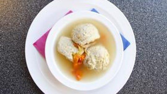 Matzoh ball soup.