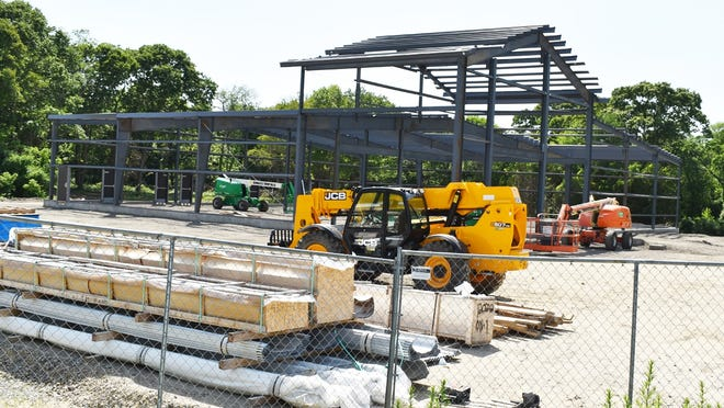 A Camp Bow Wow franchise is being built on Route 6 in Swansea, near the intersection with Gardners Neck Road.