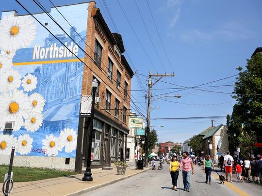 Hamilton Ave in the Cincinnati neighborhood of Northside.