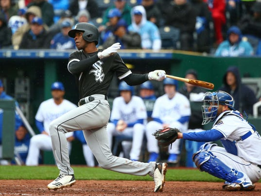 USP MLB: CHICAGO WHITE SOX AT KANSAS CITY ROYALS S BBA KC CHW USA MO