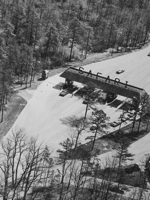 Undated: An overhead shot of the Safari gates at Great Adventure in Jackson.