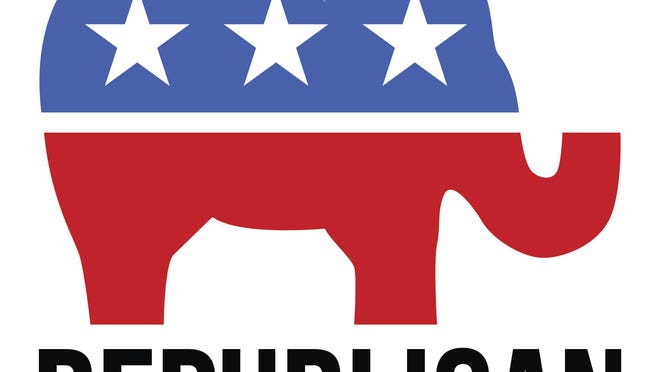 A simple illustration of the republican party elephant symbol.