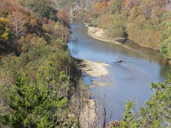 The Current River in the Ozarks National Scenic Riverways