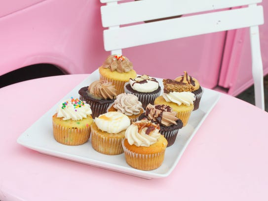 Some of the cupcake selections at Jenuine Desserts.