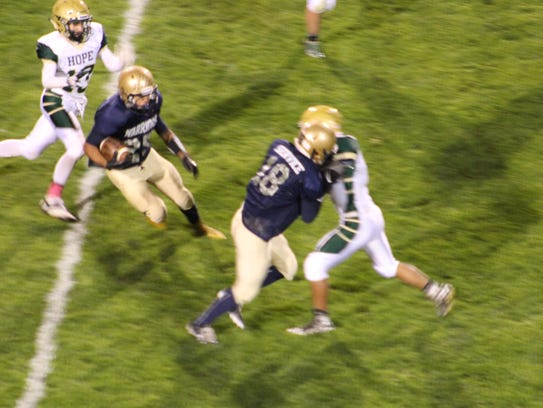 Ruidoso's Hayden Frierson clears the way for Cisco