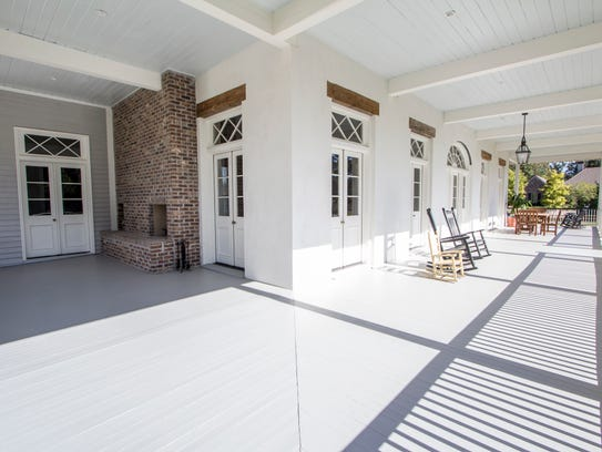 Massive porches surround the home offering lots of