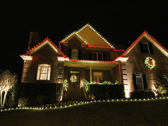 Ken Walter's home in Franklin is festive with its red