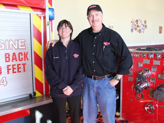 Heather and Dave Herd own Hook & Ladder Pizza Co. They're