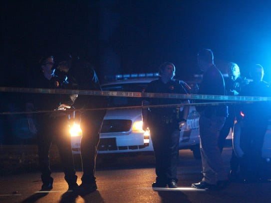 Police were investigating a shooting in the 300 block