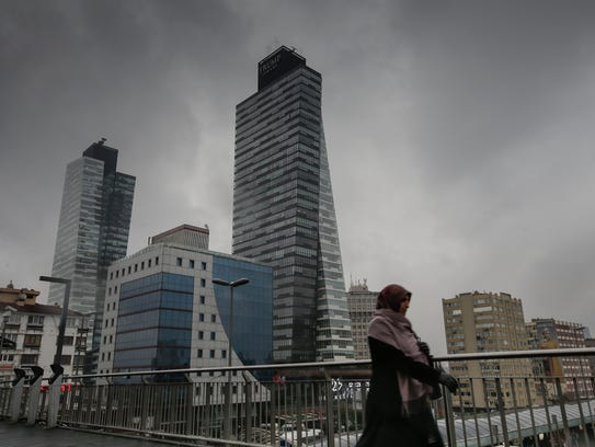 A view of Trump Towers in Istanbul, Turkey, on Dec.