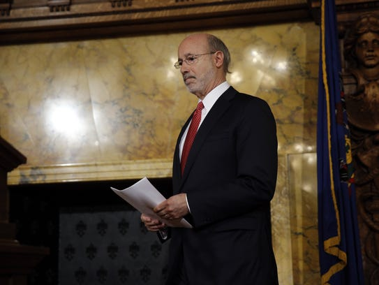 Pennsylvania Gov. Tom Wolf will sign an executive order
