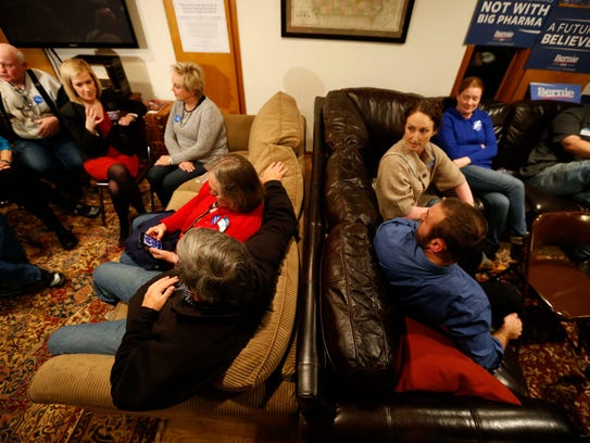 Bernie Sanders supporters Christine and Reid Schaefer
