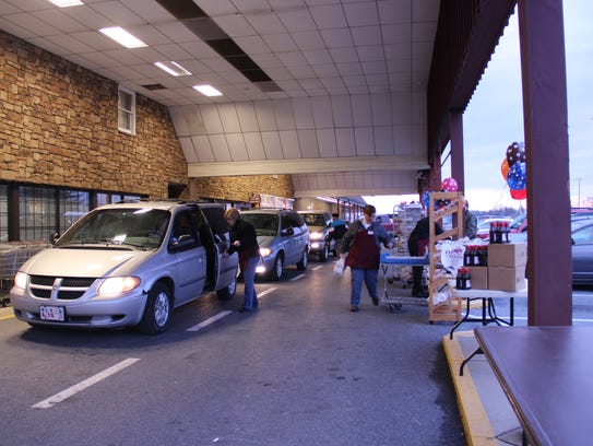Oregon Dairy has a drive-thru for Fastnacht Day.