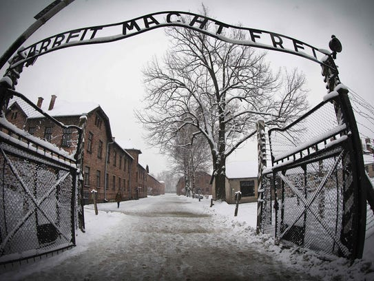 The entrance to the former Nazi concentration camp