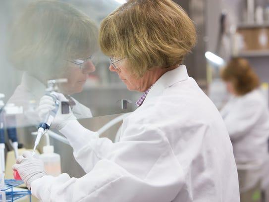 Research expert Karen Gallagher harvests human cells