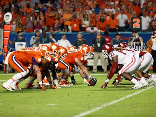 The Orange Bowl, which pitted Clemson against Oklahoma