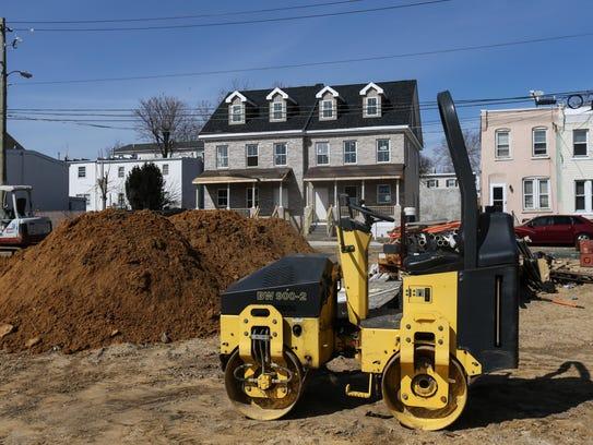 Crews build the Christina Overlook development in the