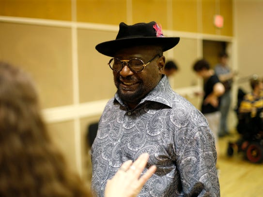 George Clinton greets the players of FSU's Old Time