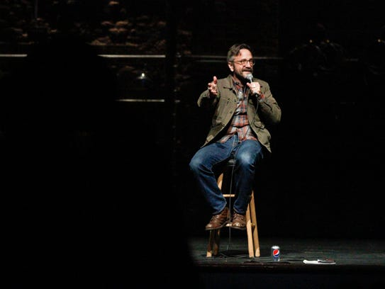 Stand-up comedian Marc Maron performs at the Englert