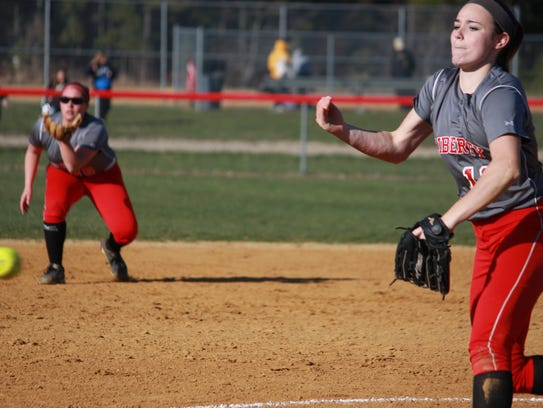 Meghan Conroy struck out 12 in a 7-1 victory over Point