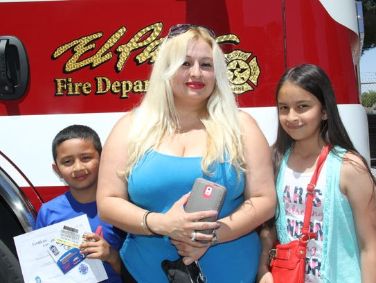 Louie Perez, from left, Terry Lerma and Katelynne Galindo.