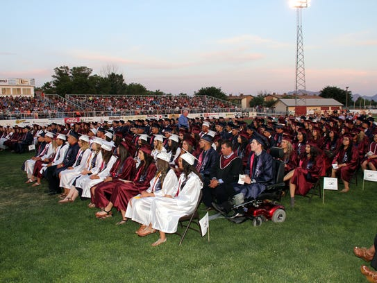 The graduating class of 2016 at Deming High School