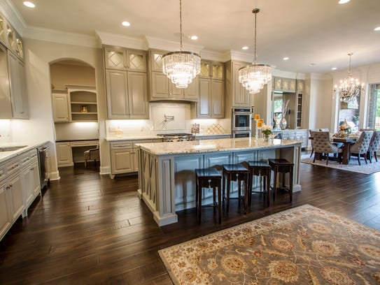 The kitchen and keeping area feature luxurious finishes
